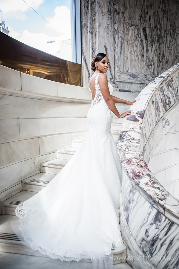 Bridal Portraits at the Venetian Room Atlanta