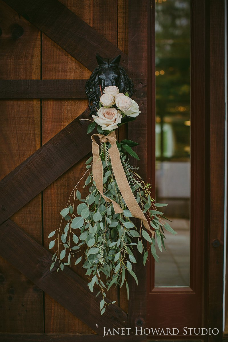 Floral decor for barn wedding
