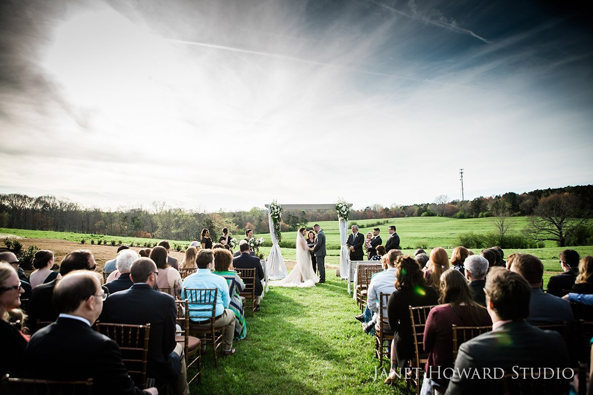 West Milford Farm Wedding ceremony