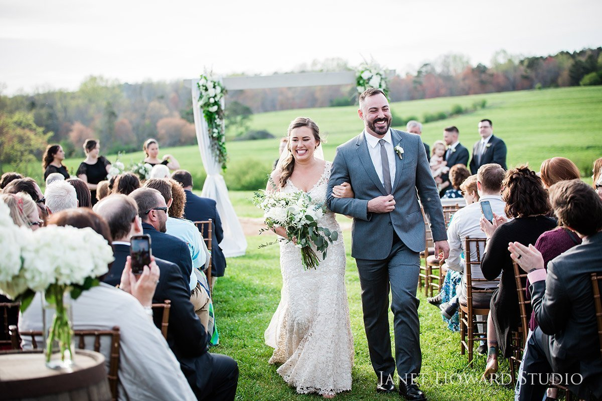 Wedding ceremony at West Milford Farm