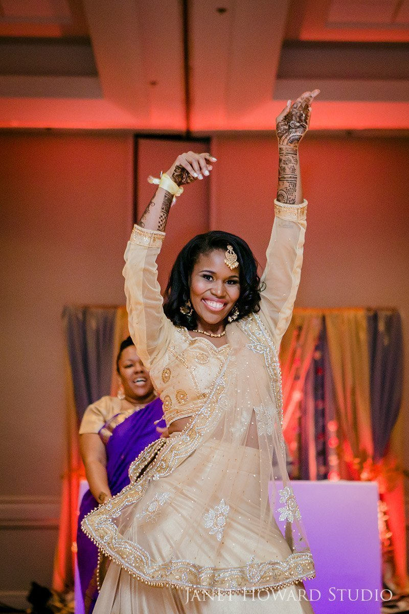 Bride dancing at Sangeet