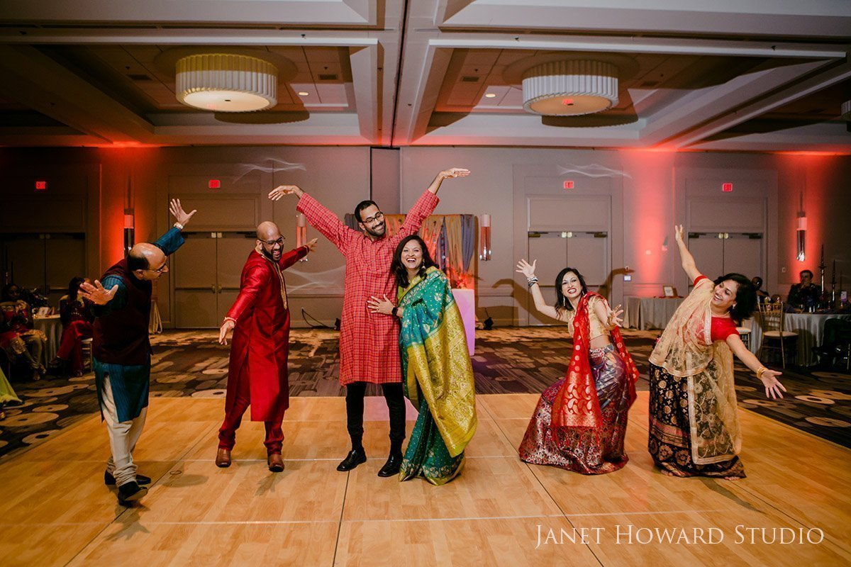 dancing at Sangeet Indian wedding traditions