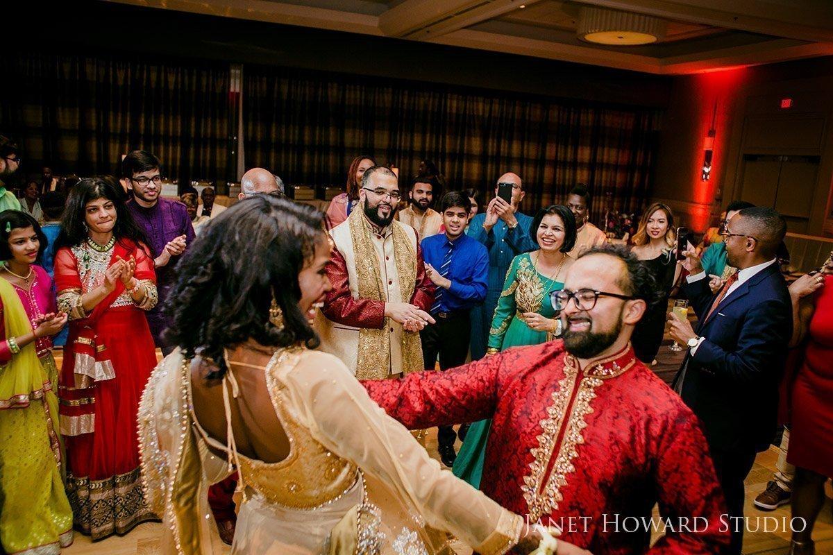 Sangeet dancing