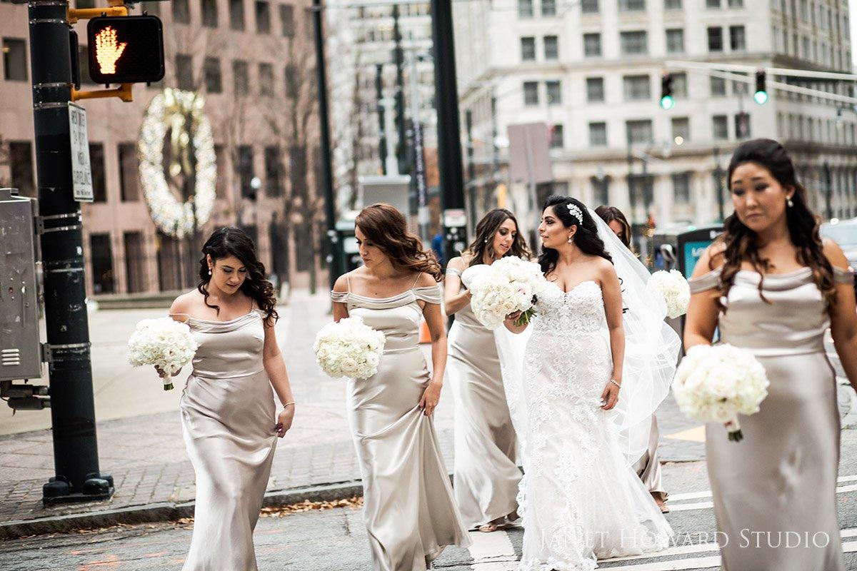 Bridesmaids Making Their Way to the Ceremony The Ritz-Carlton, Atlanta, GA