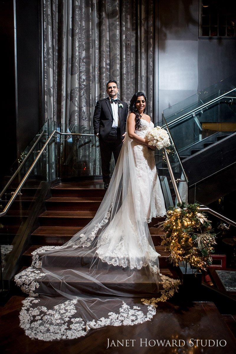 Bride and Groom Portrait Photos at The Ritz-Carlton, Atlanta, GA