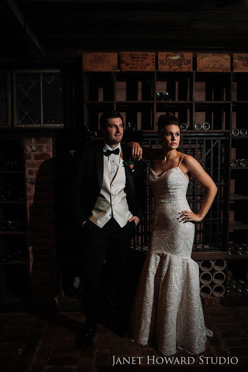 Bride and Groom Portraits at The Estate in Buckhead, Georgia