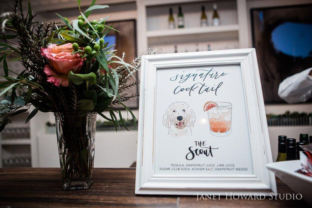 Wedding signature cocktail sign