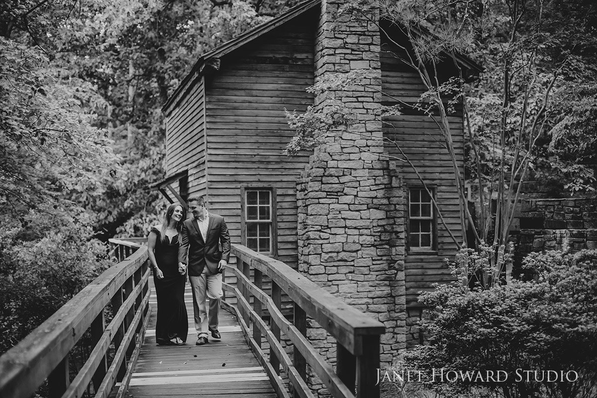 Stone Mountain Engagement Photo Shoot with Cabin