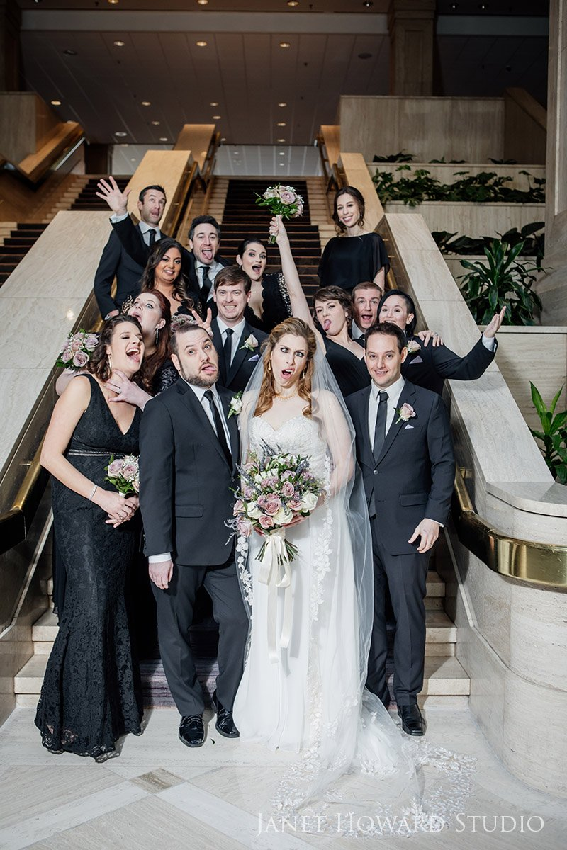 Silly Wedding Party Portraits