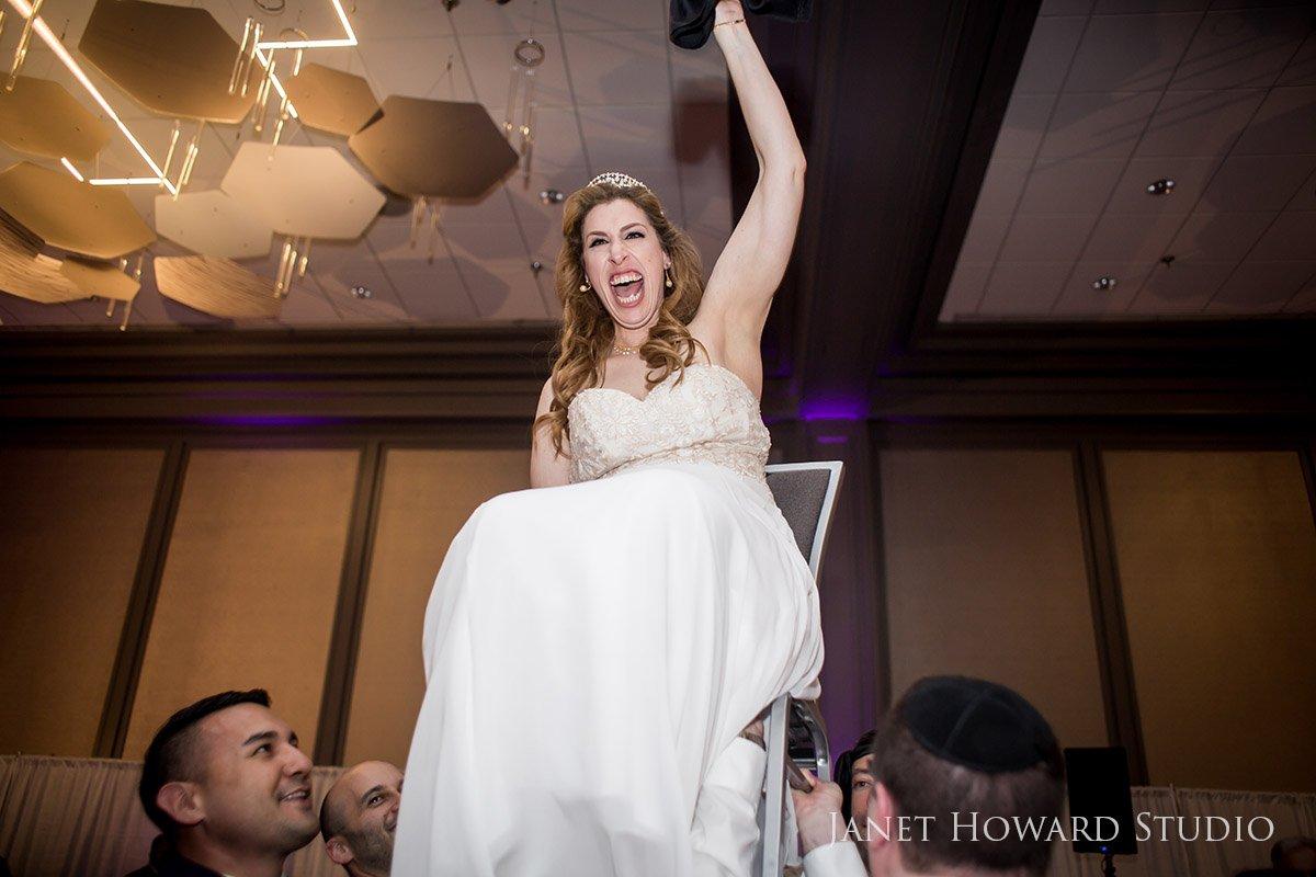 Bride Raised on Chair