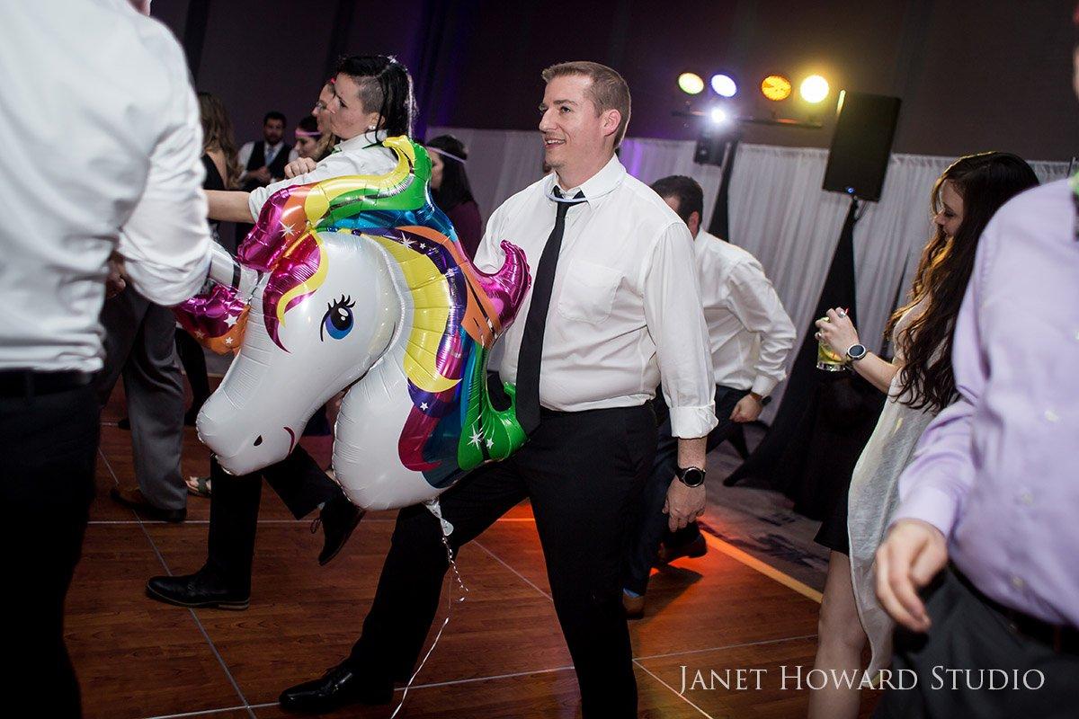 Unicorns at Wedding Reception