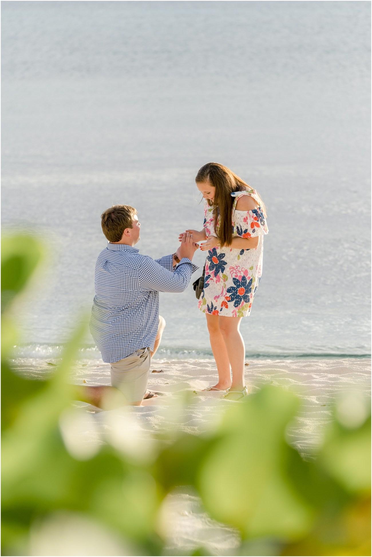beach surprise engagement grand cayman