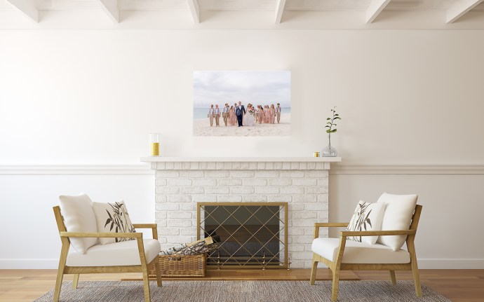 3 reasons to print your photos. wall canvas in living room