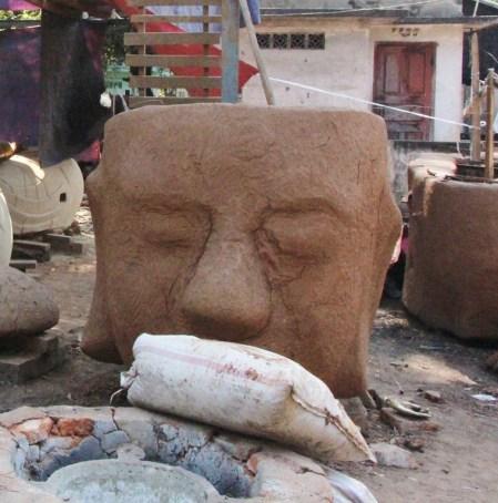 Part of a bronze-cast Buddha.