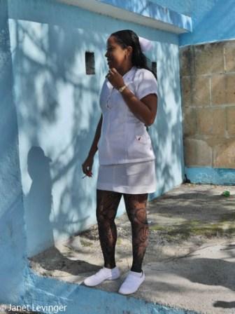 Havana - notice the fishnet stockings on the nurse