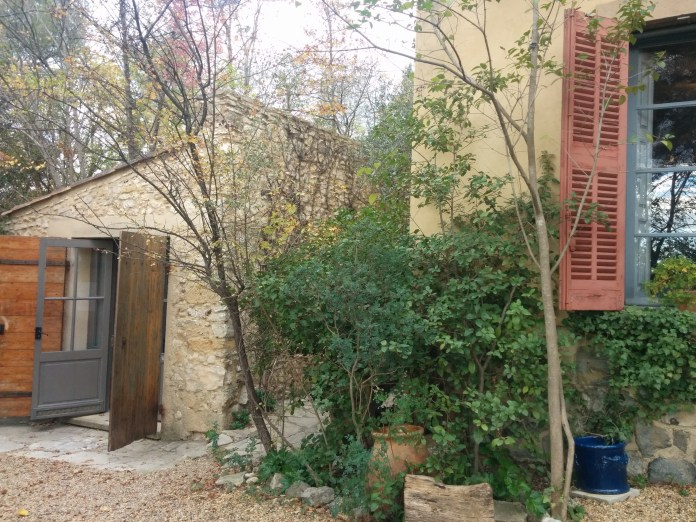 The shed that houses the toilet for Cézanne's workshop