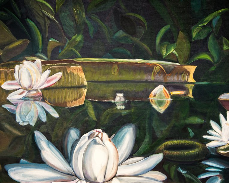 Lily oil painting