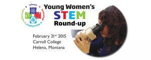 Social media and home page web banner to promote STEM workshop for young women.