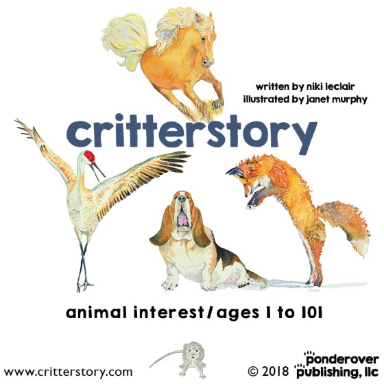 'critterstory' a children's picture book written by niki leclair and illustrated by janet murphy.
