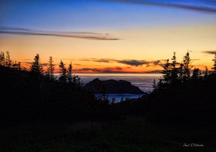 seascape, sunset, silhouette, NL