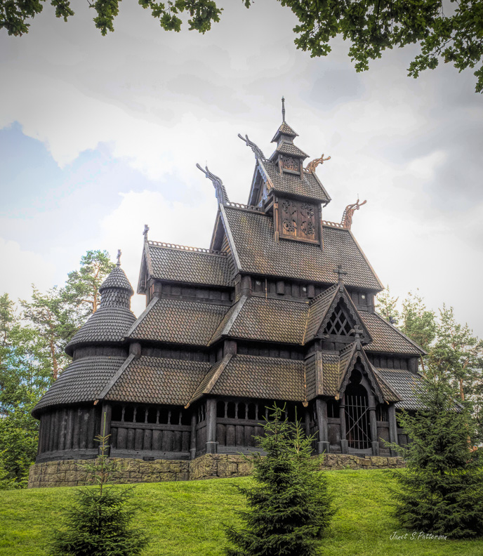 architecture, Stave Church from Gol, historical, cultural, Oslo, Norway