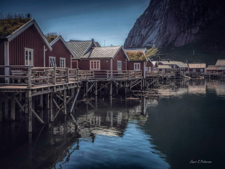 seascape, landscape, rorbuer, Lofoten, Reine, Norway
