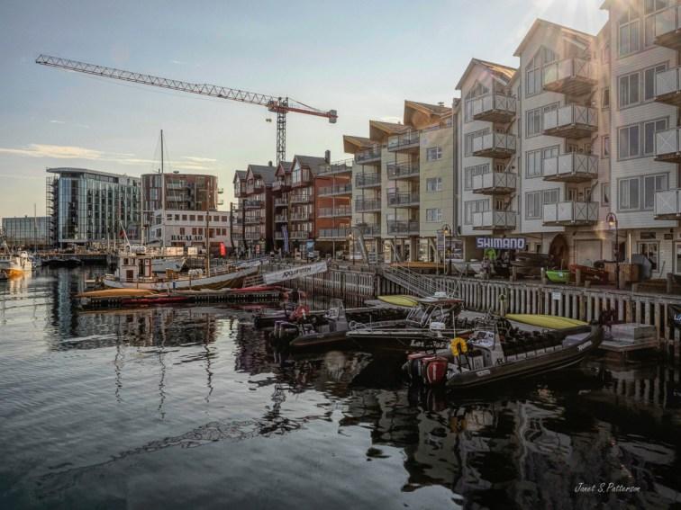 seascape, cityscape, Svolvaer, boats, harbour, Lofoten, Norway
