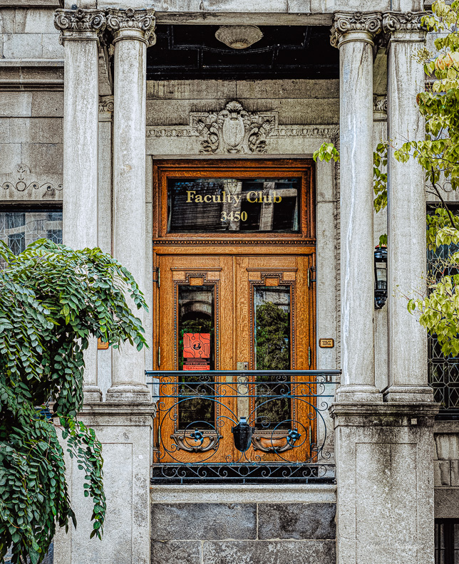 Doors, architecture, McGill University, Faculty Club, Montreal, 2019