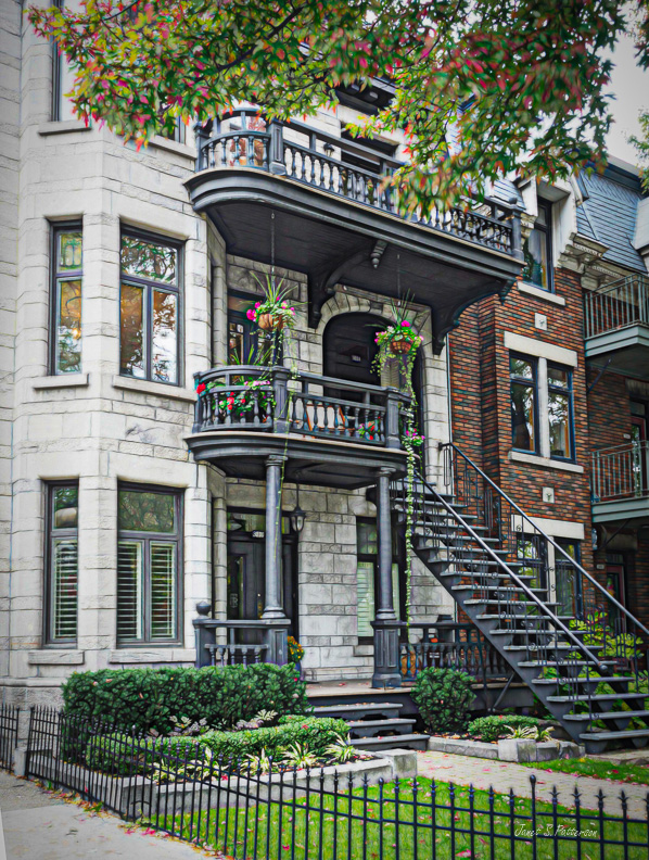 architecture, house, duplex, Montreal, stairs, balcony