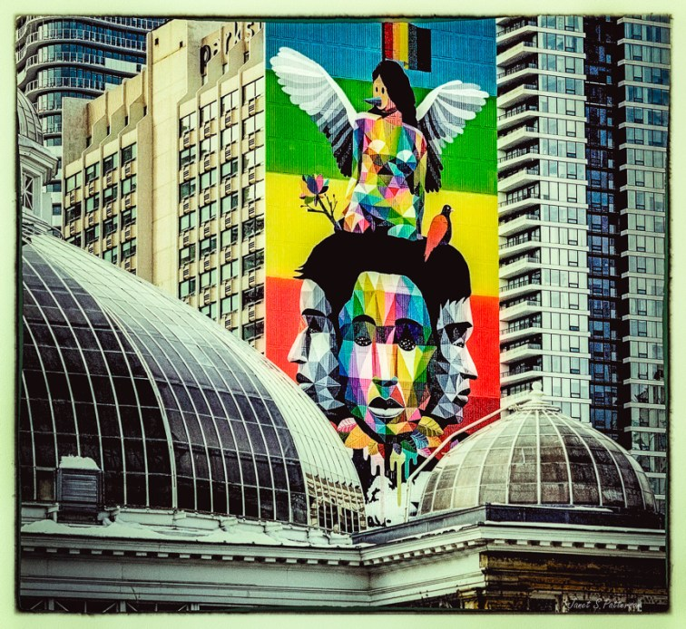 cityscape, street art, James Gardens, high rises, Toronto, downtown, buildings