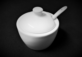 White China Mustard Pot