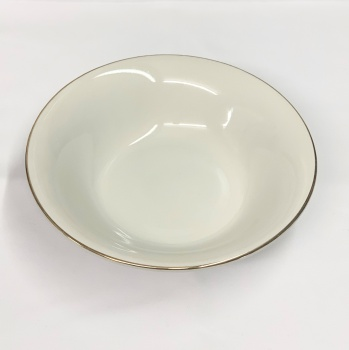 "Gold Edged Round Dish 9.5"""