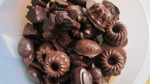 homemade chocolate from Fairtrade chocolate