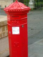 Hexagonal Victorian post box in Norwich