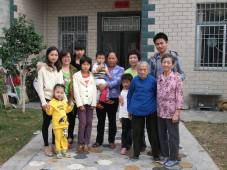 My mother with her extended family in China. China is always in her heart.