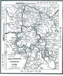 1904 map of Yellowstone