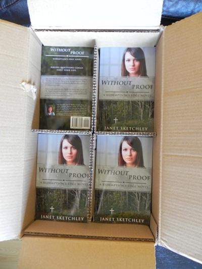 Box of books.