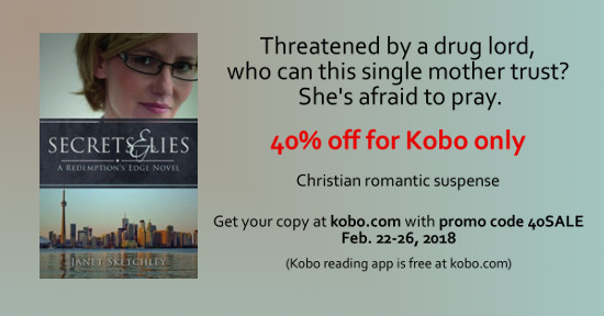 Secrets and Lies (Redemption's Edge book 2) is 40% off for Kobo until Feb. 26/18 with promo code 40SALE