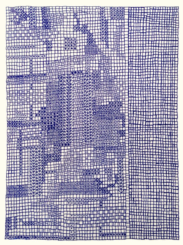NetWork, Printmaking, Print by Janet Towbin, photopolymer etching,