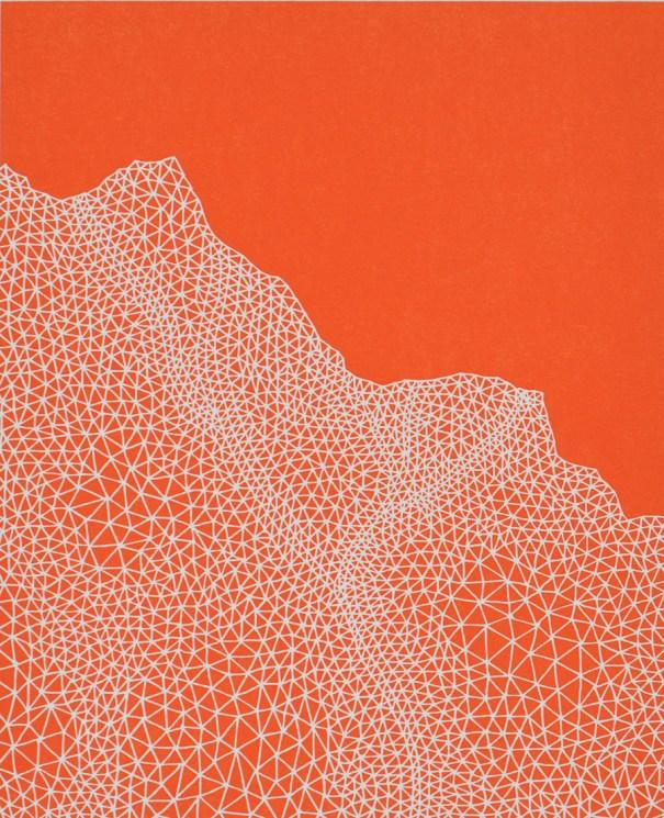Print by Janet Towbin, Pathway Orange