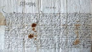 "October 12, 1537 - Jane Seymour announces ""We be delivered of a prince."" Read the letter on www.janetwertman.com"