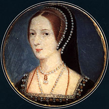 February 15, 1533 - Anne Boleyn tells the court that she has