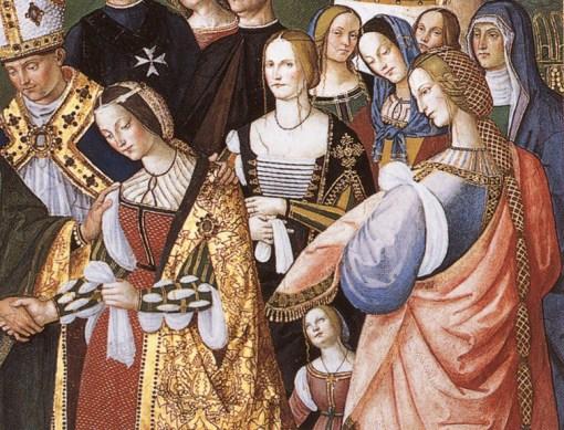 1502 Betrothal Scene by Pinturicchino (Aeneas Piccolomini Introduces Eleonora of Portugal to Frederick III)