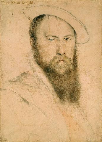 Sir Thomas Wyatt, pencil drawing by Hans Holbein