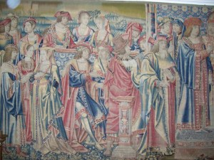 On August 13, 1514, Henry VIII's younger sister Mary entered married Louis XII of France by proxy. On that day, Edward Seymour joined her household and began his politial ca. Read about it on www.janetwertman.com