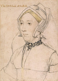 Catherine Willoughby, drawing by Hans Holbein the Younger
