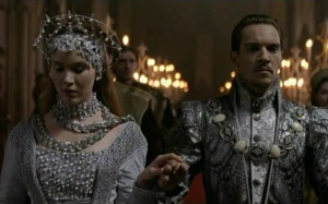 Wedding of Anne of Cleves and Henry VIII - as portrayed by Joss Stone and Jonathan Rhys-Meyer in Showtime's The Tudors