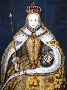 Elizabeth I, in her coronation robes, by an unknown artist (public domain via Wikimedia Commons)