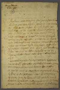 Mary Stuart's Last Letter (Creative Commons License via the National Library of Scotland)