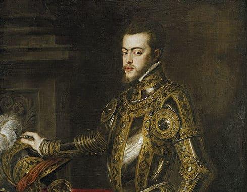 Philip II, portrait by Titian c. 1554
